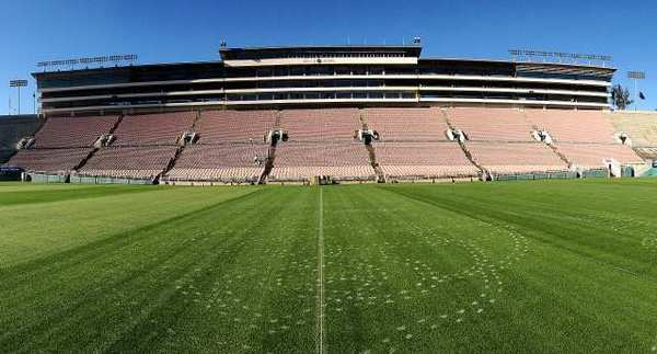 The Rose Bowl in Pasadena.