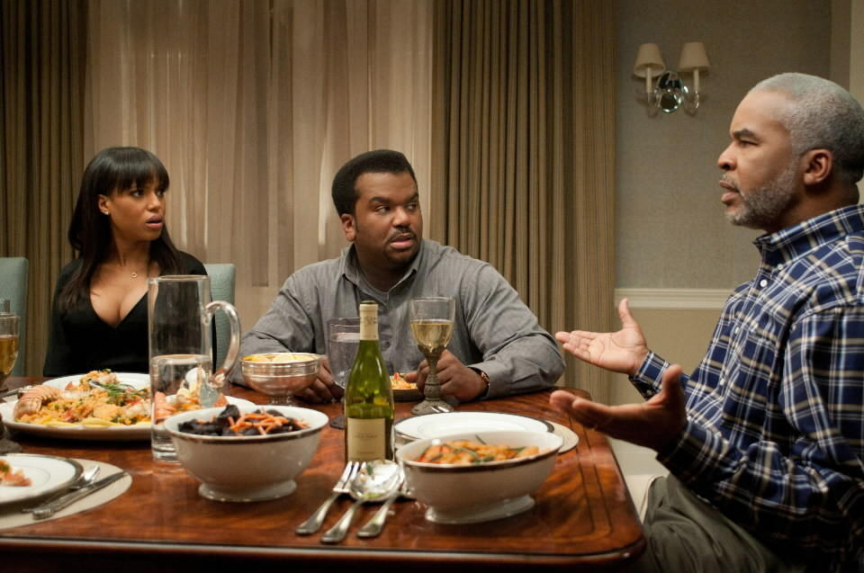 """<b>PG-13; 1:35 running time</b><br><br>""""Peeples"""" is an African-American """"Meet the Parents"""" that slips funnyman Craig Robinson into the Ben Stiller role. Casting the musically minded Robinson in this formula comedy about screwing up your first encounter with your potential in-laws is like replacing Stiller's Greg Focker with Jack Black. Yeah, that might work. And here, formulaic or not, it's funny.<br><br><a href=http://www.chicagotribune.com/entertainment/movies/sc-mov-0508-peeples-20130509,0,370210.story>Read the full """"Peeples"""" movie review</a>"""