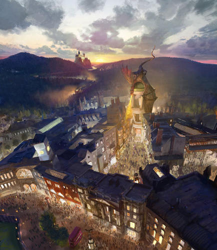 These renderings show the planned expansion of the Wizarding World of Harry Potter at Universal Orlando coming in 2014.