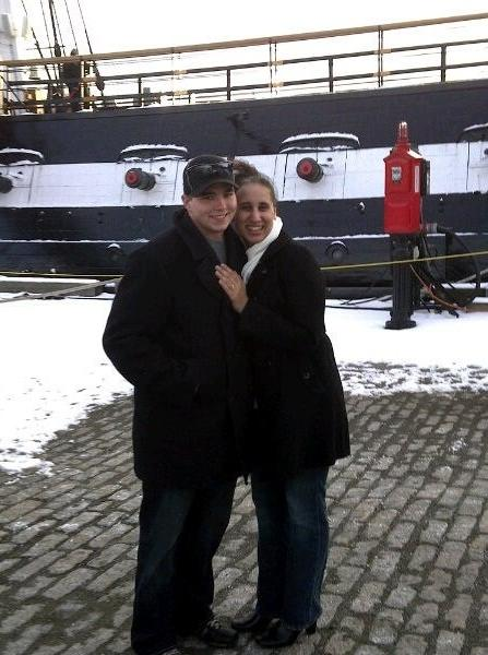 Joe Meehan proposed to TiffanyRobin Jantzer on the deck of the U.S.S. Constitution in Boston. They were married on July 8, 2011.