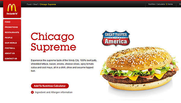 Chicago Supreme: The Chicago burger will be available in UK McDonald's through May 14. Louisiana, Arizona, California and New York were also selected for the special menu, which runs through June 4.