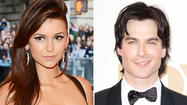 "Nina Dobrev has split with her ""Vampire Diaries"" costar Ian Somerhalder."