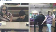 Authorities are looking for a man and woman who paired up to rob a McKinley Park neighborhood bank this week on the Southwest Side.