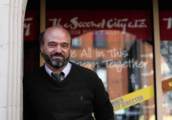 Actor Scott Adsit, outside Second City on April 3.