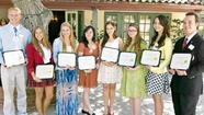 Eight high school seniors from La Cañada Flintridge were each awarded a $1,000 scholarship last week.