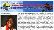 Lauderdale Lakes Commissioner Patricia Hawkins-Williams' brochure to residents