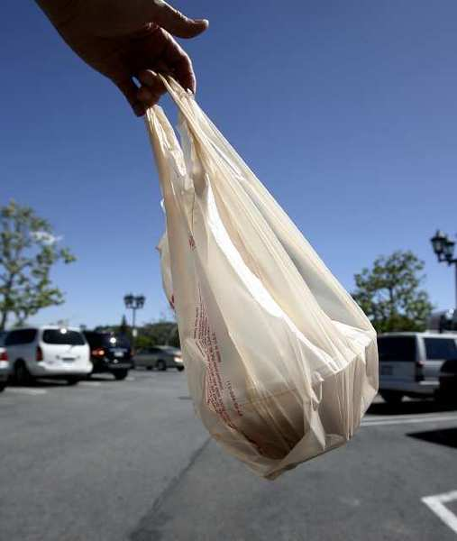 Plastic bags at Ralph's in La Canada Flintridge on Tuesday, April 16, 2013. The city council considered a ban on plastic bags, however, three of the five City Council members showed opposition on Monday, May 6, 2013, to studying an ordinance that would limit or ban single-use plastic bags in the city.