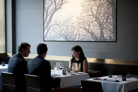 "Diners at <a href=""http://chicago.metromix.com/venues/mmxchi-brindille-venue"">Brindille</a> in River North"