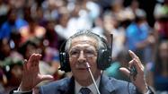MEXICO CITY -- The former dictator of Guatemala, Efrain Rios Montt, on Thursday took the stand for the first time in his genocide trial and said he did not order the slaughter of hundreds of indigenous Maya.