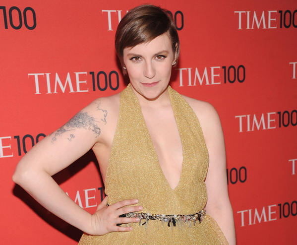 """Girls"" creator and star Lena Dunham, shown at the 2013 Time 100 Gala on April 23 in New York City, will be 26 May 13."