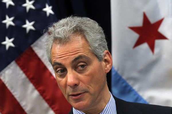 Mayor Rahm Emanuel was grilled after the meeting of the Chicago City Council Wednesday May 8, 2013 about the parking meter deal as well as the closing of schools.