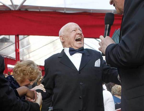 Mickey Rooney arrives at the 82nd Academy Awards at the Kodak Theatre in 2010.