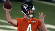 The Chicago Bears have only three quarterbacks on their 90-man roster and only one of them will get a shot to impress this weekend.