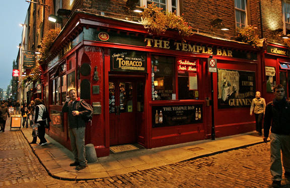 The Temple Bar is a lively entertainment and cultural district in Dublin, Ireland.