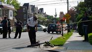 A 15-year-old boy riding a bicycle in Allentown was killed Thursday afternoon in a collision with a sport utility vehicle, police said.