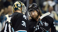 SAN JOSE -- The San Jose Sharks will not have the services of forward Adam Burish for the second round of the playoffs.