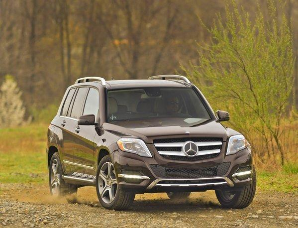 The 2013 Mercedes-Benz GLK250 BlueTec uses a 2.1-liter, twin-turbocharged four-cylinder engine to make 200 horsepower and 369 pound-feet of torque. It's rated at 24 mpg in the city and 33 mpg on the highway.