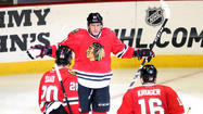 Marian Hossa was stone-faced with arms out as the place erupted, awaiting the incoming affection of teammates. These are the postseason scenes the Blackhawks imagine for the gifted winger, standing tall and sending everyone into a frenzy, washing out grimmer scenes from a year ago.