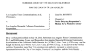 <b>DOCUMENT:</b>Judge denies L.A. Coliseum bid to bar reporters from deposition