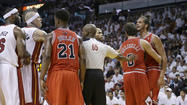 CHICAGO -- Bulls coach Tom Thibodeau wants his players to have the same reaction to questionable foul calls and a middle finger from a crazed-looking Heat fan clutching a purse.