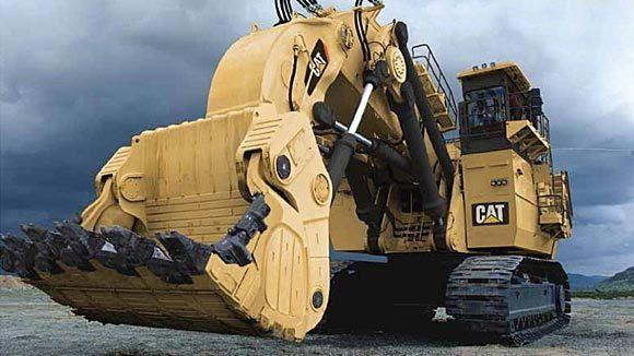 A Caterpillar mining shovel.