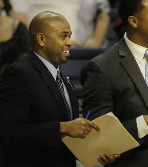 Ricky Moore was elevated to a full-time assistant coach at UConn in April.