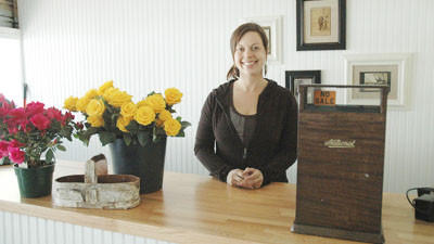 Jamie Platte, 36, is the new owner of A.R. Pontius Flower Shop in Harbor Springs.