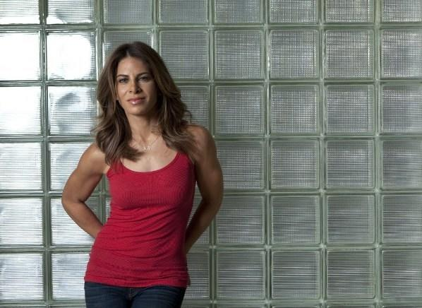 """The Biggest Loser"" trainer Jillian Michaels sits for a portrait in her home Feb. 2, 2013 in Malibu."