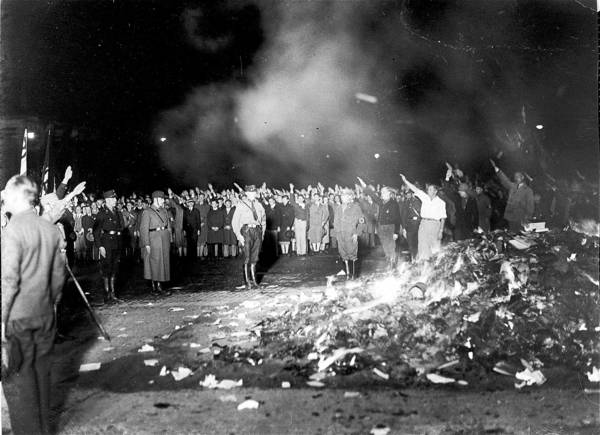 nazi book burning Lists of banned books, 1932-1939  a newspaper article from the völkischer  beobachter, the nazi party's  (twelve book-burning slogans.