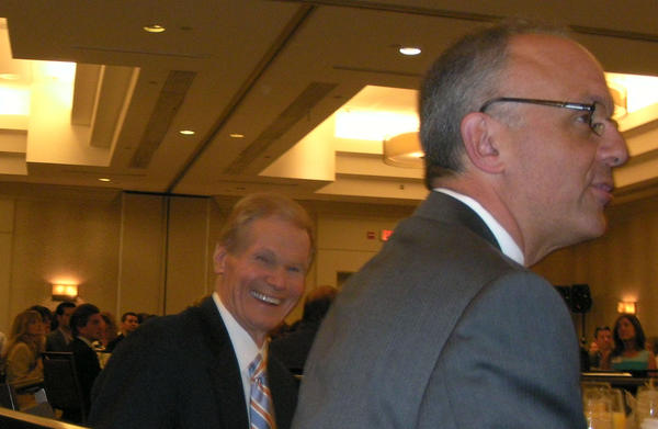 U.S. Sen. Bill Nelson, left, and U.S. Rep. Ted Deutch before both speak to the Realtor Association of Greater Fort Lauderdale.