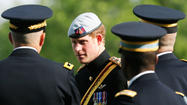 Prince Harry at Arlington National Cemetery