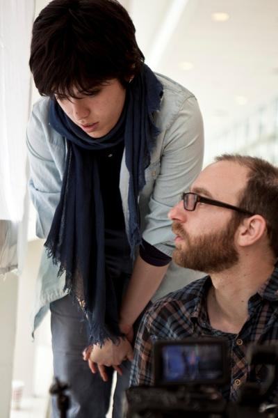 """Anahita Ghazvinizadeh and Yoni Goldstein the cinematographer of the film """"Needle."""""""