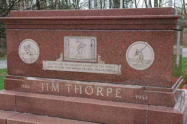 The Jim Thorpe Memorial in Jim Thorpe, Pennsylvania.