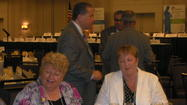 Davie Mayor Judy Paul (left) Miramar Mayor Lori Moseley. Walking between them is Weston Mayor Daniel Stermer