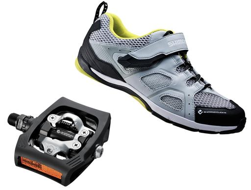 Despite the stylishness and comfort, the Shimano CT-40 Click'R, which works with the Shimano Click'R PD-T400 pedal system, is missing screw ports for a pair of spikes — which the other three shoes included — and was deemed heavy at 15.5 ounces.