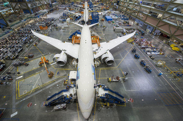 Final assembly facility for Boeing's 787 Dreamliner in Everett, Wash.