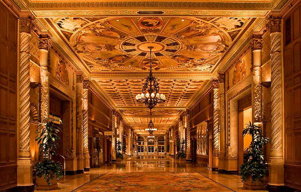 The Biltmore in downtown L.A., built in the Gatsby era, is a perfect place to read the book.