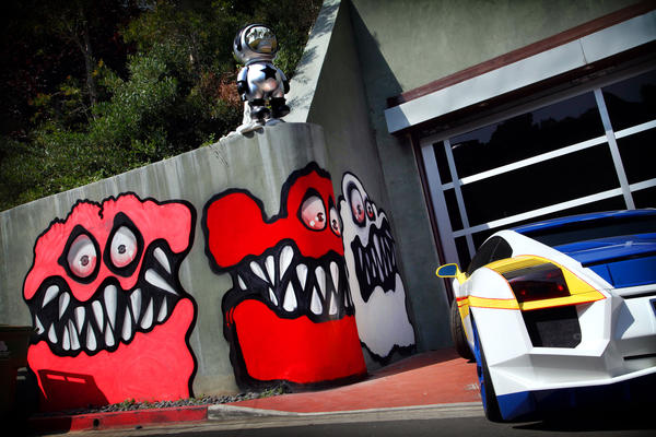 Neighbors have complained about street art painted outside entertainer Chris Brown's Hollywood Hills home.