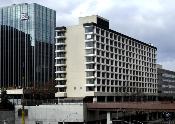 The former Sonesta Hotel on Constitution Plaza in Hartford.