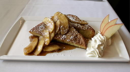 French toast with brown sugar apple compote is on the Mother's Day brunch menu at the Edge in Bethlehem.