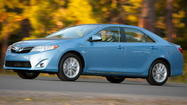 Camry hybrid rolls lightly on