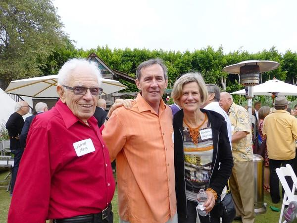 Arnold Hano, Councilman Bob Whalen and Kristen Whalen at the Laguna Beach Community Clinic Cinco de Mayo celebration.