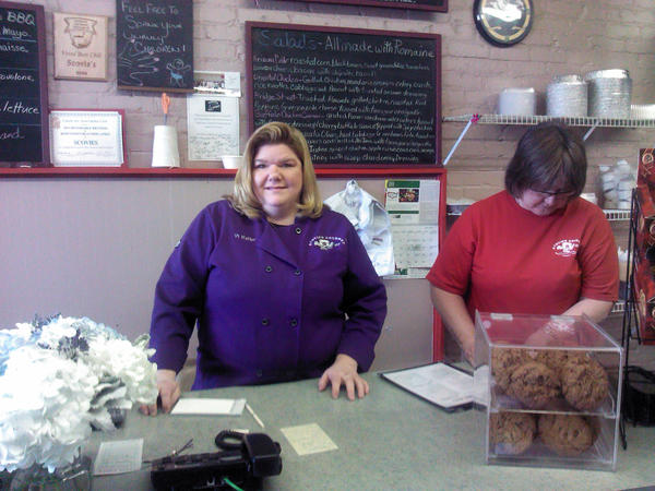 This is Vi Keller, owner of Scovie's Gourmet Deli in downtown Charlevoix.