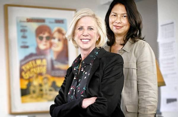 "Creator of ""Nashville"" Callie Khouri, left, with show runner Dee Johnson."