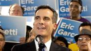 Los Angeles mayoral candidate Eric Garcetti said Friday that Wendy Greuel's dwindling campaign treasury would only bolster his argument that her campaign is being sustained by the independent spending on her behalf.