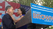 Lt. Gov. Anthony G. Brown became the first candidate to join the 2014 Maryland governor's race Friday with a call to close the gap between rich and poor in education, health and economic opportunity.