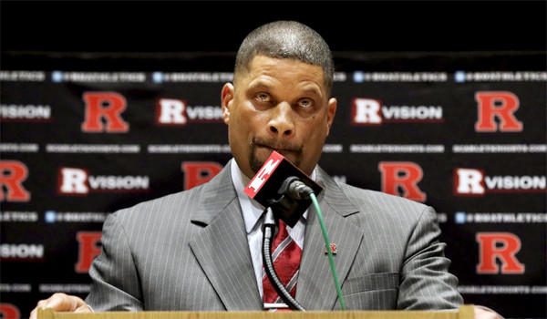Rutgers confirmed Friday that the school's athletic department website incorrectly had credited the Scarlet Knights' new basketball coach with earning a degree from the university.