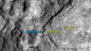 After a four-week spring break, NASA's Mars Curiosity rover has set its sights on the next drill target: Cumberland, a rock lying about 9 feet away from where the rover first broke ground in Yellowknife Bay.