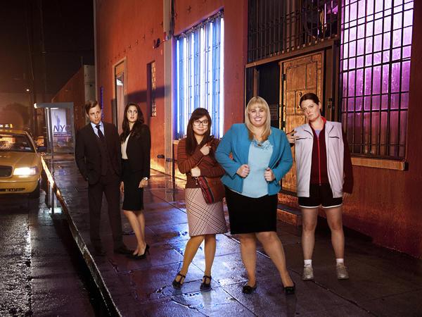 """Super Fun Night"" stars Kevin Bishop, Kelen Coleman, Liza Lapira, Rebel Wilson and Lauren Ash."