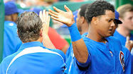 "WASHINGTON -- <strong>Starlin Castro</strong>'s move to the leadoff spot Friday was due to ""a process of elimination,"" Cubs manager <strong>Dale Sveum </strong>said."